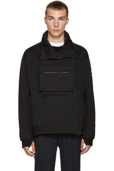 Stone Island Shadow Project - Black Pocket Zip-Up Sweater