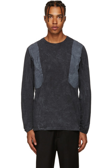 Stone Island Shadow Project - Grey Panelled Zip T-Shirt
