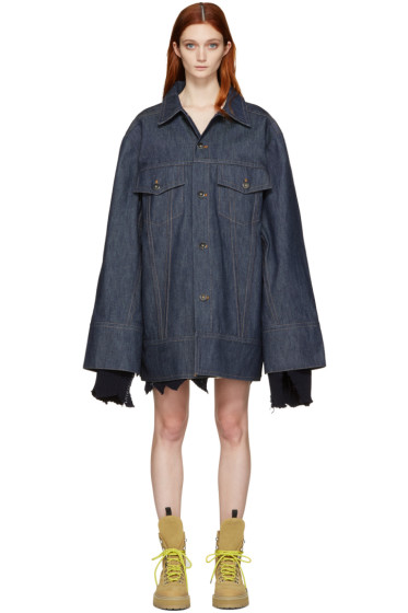 Matthew Adams Dolan - Indigo Denim Falling Cuff Jacket