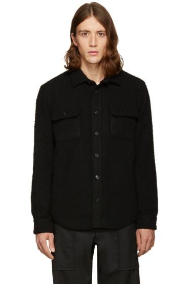 Noah - SSENSE Exclusive Black Wool Teddy Shirt