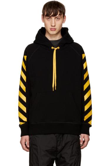 Moncler O - Black Striped Sleeves Hoodie