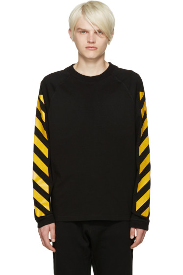 Moncler O - Black Striped Sleeves T-Shirt