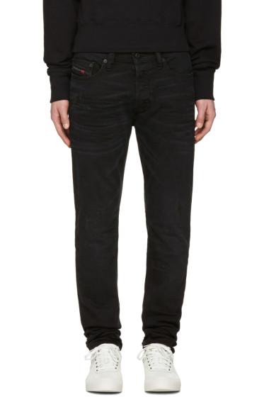 Diesel - Black Distressed Tepphar Jeans
