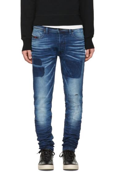 Diesel - Blue Tepphar Patch Jeans