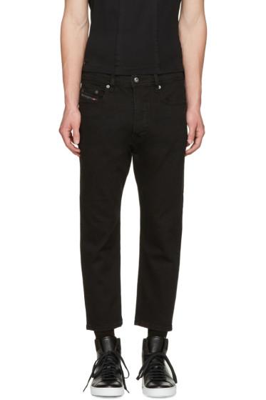 Diesel - Black D-Brag Cropped Jeans