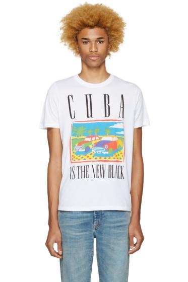 Diesel - White T-Joe-Mf Cuba T-Shirt