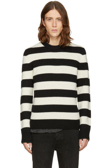Rag & Bone - Black & Off-White Shane Sweater
