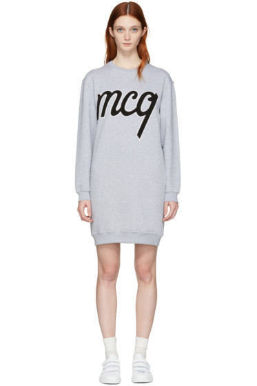 McQ Alexander Mcqueen - Grey Logo Classic Dress