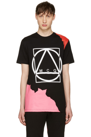 McQ Alexander Mcqueen - Black Abstract Icon T-Shirt