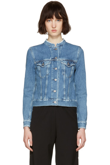 Acne Studios - Indigo Denim Top Fray Jacket