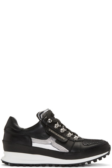 Dsquared2 - Black & Silver 'Dean Goes Hiking' Sneakers