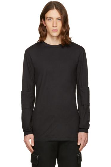 Helmut Lang - Black Elbow Patch T-Shirt