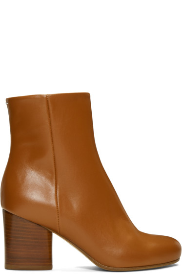 Maison Margiela - Brown Leather Ankle Boots