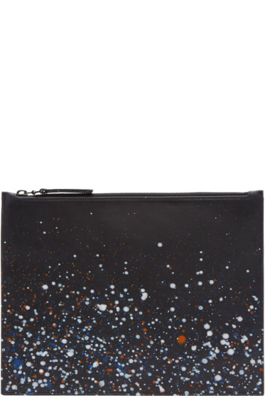 Maison Margiela - Black Paint Splatter Pouch