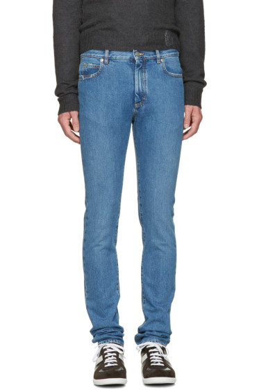 Maison Margiela - Indigo Skinny Distressed Jeans