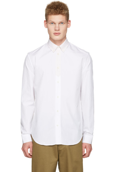 Maison Margiela - White Contrast Collar Shirt