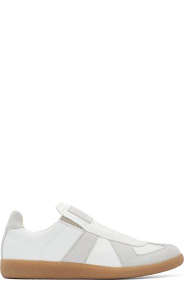 Maison Margiela - White Laceless Replica Sneakers
