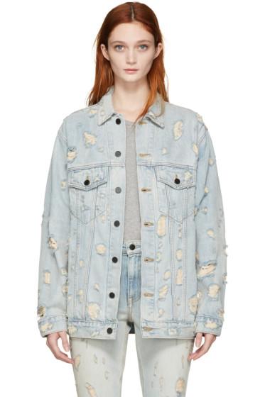 Alexander Wang - Blue Denim Scratch Daze Jacket