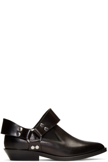 MM6 Maison Margiela - Black Low Harness Boots