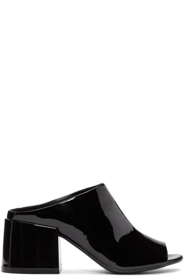 MM6 Maison Margiela - Black Cube Heel Mules