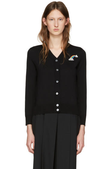 Marc Jacobs - Black Wool Embroidered Patch Cardigan