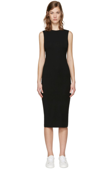 T by Alexander Wang - Black Back Slits Dress