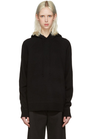 T by Alexander Wang - Black Wool & Cashmere Hoodie