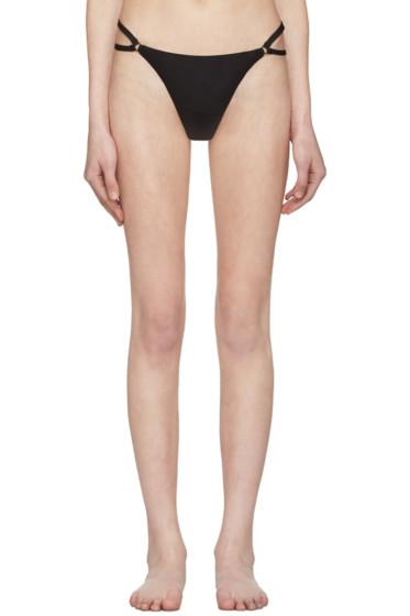 T by Alexander Wang - Black Cut-Out Bikini Briefs