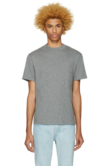 T by Alexander Wang - Grey High Neck T-Shirt