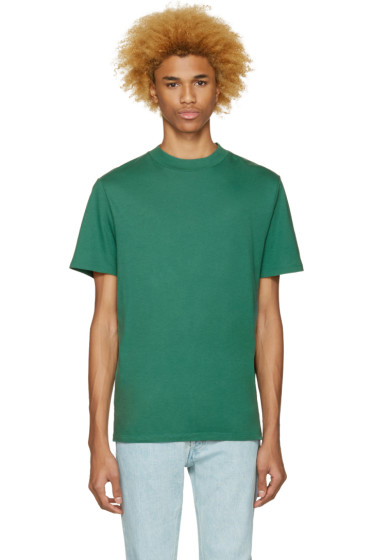 T by Alexander Wang - Green High Neck T-Shirt