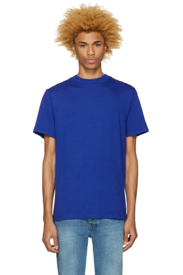 T by Alexander Wang - Blue High Neck T-Shirt