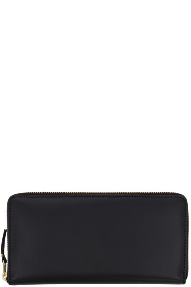 Comme des Garçons Wallets - Black Leather Continental Wallet
