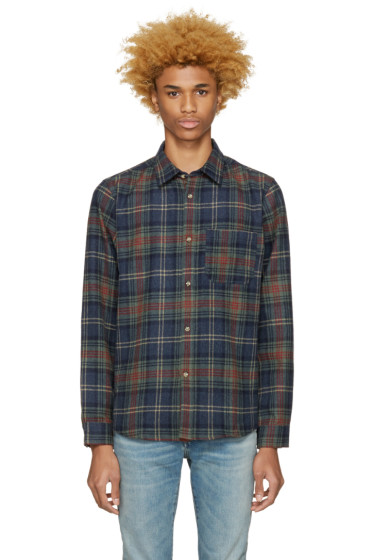 A.P.C. - Blue Check Wool Trevor Shirt