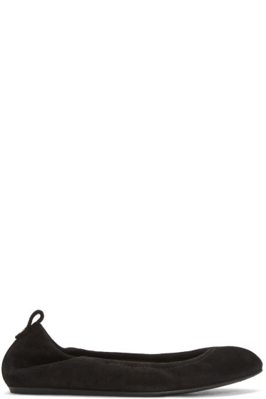 Lanvin - Black Suede Classic Ballerina Flats