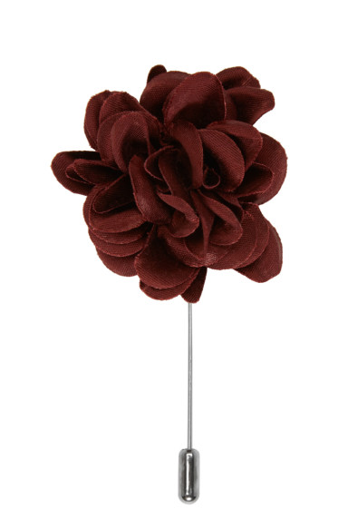 Lanvin - Burgundy Rose Tie Pin