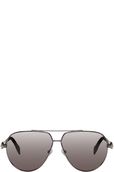 Alexander McQueen - Gunmetal Skull Hinge Sunglasses