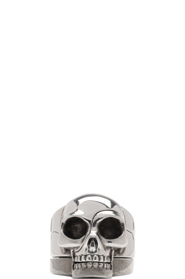 Alexander McQueen - Silver Divided Skull Ring Set