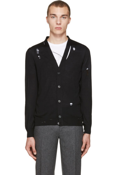 Alexander McQueen - Black Destroyed Cardigan