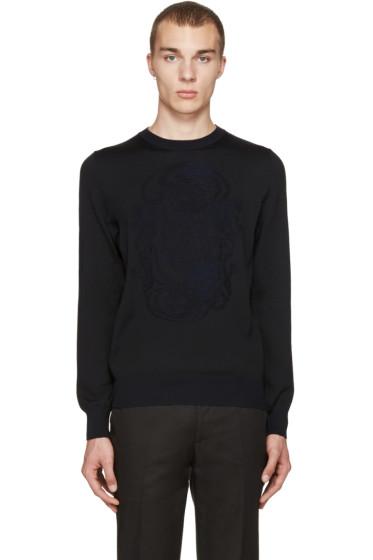 Alexander McQueen - Black Jacquard Skull Pullover