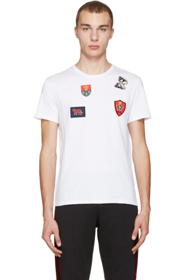 Alexander McQueen - White Badges & Butterfly T-Shirt