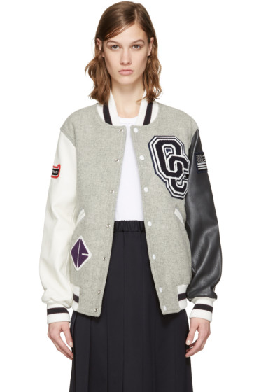Opening Ceremony - Grey Varsity Bomber Jacket