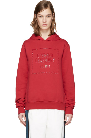 Opening Ceremony - Red Gel Logo Hoodie