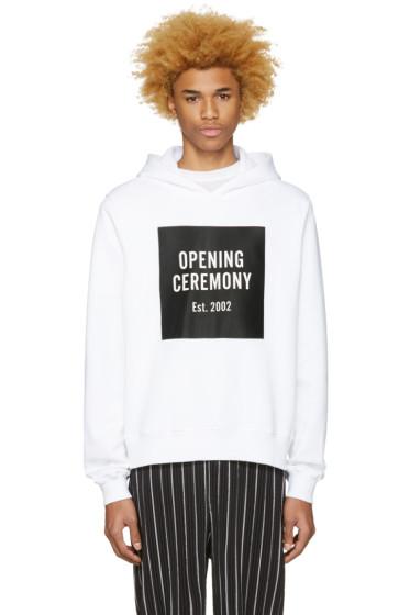 Opening Ceremony - White Box Logo Hoodie