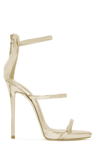 Giuseppe Zanotti - Gold Colline Heeled Sandals