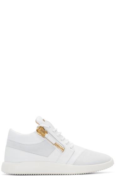 Giuseppe Zanotti - White Leather Sneakers