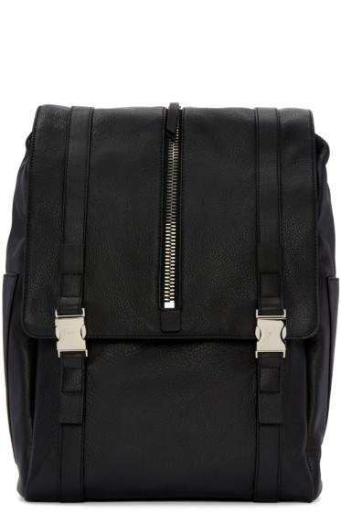 Giuseppe Zanotti - Black Zipper Boris Backpack