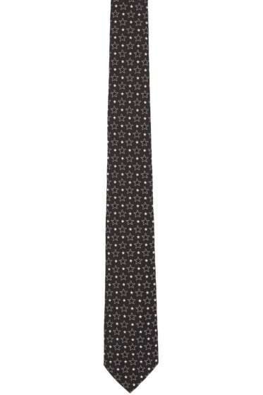 Givenchy - Black Big & Small Stars Tie