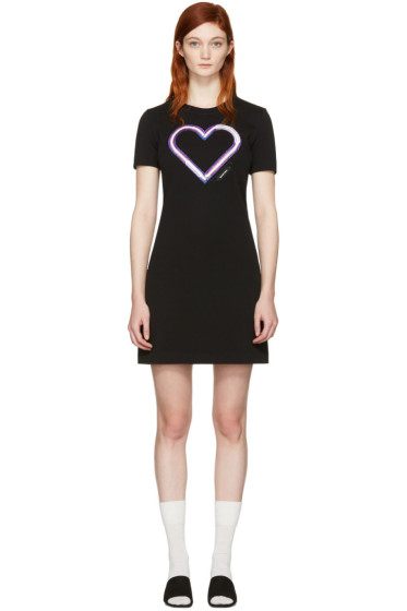 Carven - Black Neon Heart Dress