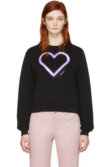 Carven - Black Neon Heart Pullover