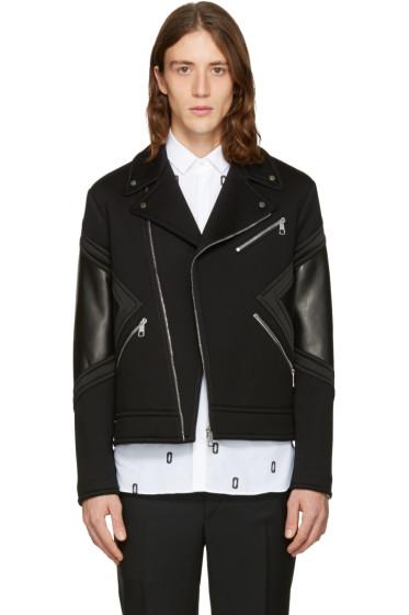 Neil Barrett - Black Panelled Biker Jacket